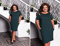 Стильное платье футляр с молниями ,3 цвета Р-р. 50-52;54-56;58-60 Код 6020Е