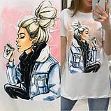Женская футболка с камнями / Турция 35-3901, фото 2