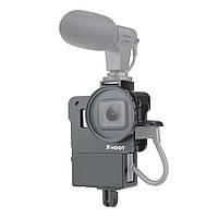 Защитная клетка Vlogging Чехол для GoPro Hero 7 6 5 Black камера Крепление для Микрофон Рамка корпуса Vlog Cage Чехол-1TopShop