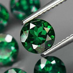 Натуральный топаз зеленый  6 мм