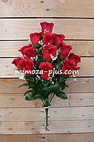 Искусственные цветы - Роза букет, 48 см