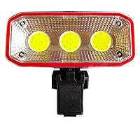 🔝 Велофара, фонарь на велосипед Сова СВ-963 400lm красный, фонарик для велосипеда (велосипедный) фара | 🎁%🚚