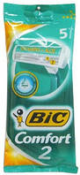 Набор одноразовых бритвенных станков BIC 2 Comfort 1уп/5 шт. Оригинал