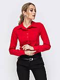 Блузка классического кроя с длинным рукавом, фото 3