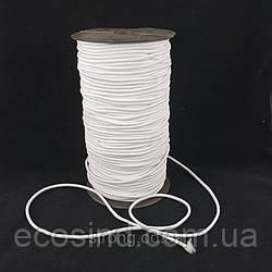 Резинка круглая (шляпная) 2,5 мм. Белая 100 м. (СТРОНГ-0476)