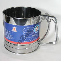 Механическое сито, кружка-сито для просеивания муки 500 грамм, фото 1