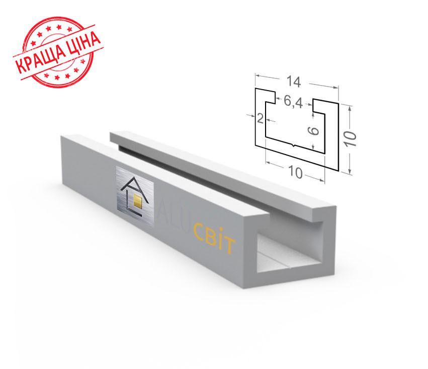 Алюминиевый конструкционный станочный профиль 14х10 анодированный