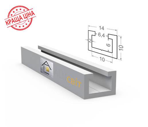 Алюминиевый конструкционный станочный профиль 14х10 анодированный, фото 2