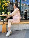 Женский плещевый деми жилет в чрких расцветках с капюшоном 71zi45, фото 4