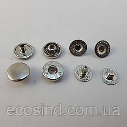 Кнопка VT-2 10мм Никель 720шт. (СТРОНГ-0198)