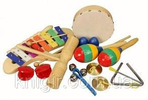 """Дитячі музичні інструменти в дерев""""яному контейнері"""