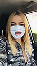Защитная трехслойная маска для лица 72as07, фото 4