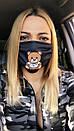 Защитная трехслойная маска для лица 72as07, фото 5