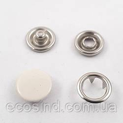 Кнопка BABY (трикотажная) 9,5мм  Бежевая с закрытой шляпкой (1440шт.) (СТРОНГ-0333)