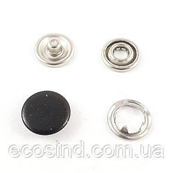 Кнопка BABY (трикотажная) 9,5мм  Черная с закрытой шляпкой (1440шт.) (СТРОНГ-0844)