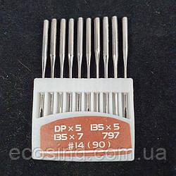 Иглы для промышленных машинок 22 класса №90 10шт. (СТРОНГ-0027)
