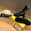 Кроссовки Fendi|Женские кожаные ботинки Фенди текстильные  коричневые вставки с логотипами, фото 2