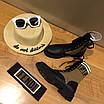 Кроссовки Fendi|Женские кожаные ботинки Фенди текстильные  коричневые вставки с логотипами, фото 4