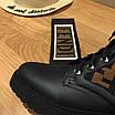 Кроссовки Fendi|Ботинки высокие Фенди женские коричнево-черного цвета кожаные текстильный верх, фото 4