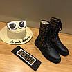 Кроссовки Fendi|Ботинки высокие Фенди женские коричнево-черного цвета кожаные текстильный верх, фото 5