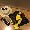 Кроссовки Fendi|Ботинки высокие Фенди женские коричнево-черного цвета кожаные текстильный верх, фото 7