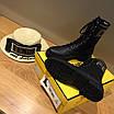 Ботинки Fendi|Ботинки женские Фенди черного цвета высокие на шнуровке, фото 2