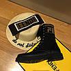 Ботинки Fendi|Ботинки женские Фенди черного цвета высокие на шнуровке, фото 4
