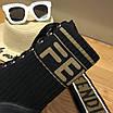 Ботинки Fendi|Ботинки женские Фенди черного цвета высокие на шнуровке, фото 7