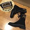 Ботинки Fendi|Ботинки женские Фенди черного цвета высокие на шнуровке, фото 8