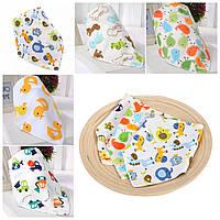 Набор комплект слюнявчиков унисекс, нагрудники для малышей 5 шт