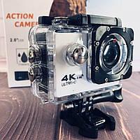 Водонепроницаемая спортивная экшн камера F60 белая, фото 1
