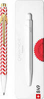 Ручка Caran d'Ache 849 Chevron Белая с Красным + box (CC0849.018) (7630002340076), фото 1