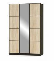 Шкаф распашной Мебель Сервис Фантазия 3Д 134,8х216х56,2 венге темное\дуб самоа, фото 1