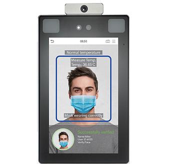 СКУД с распознаванием лиц и контролем температуры тела человека ZKTeco ProFace X [TD]