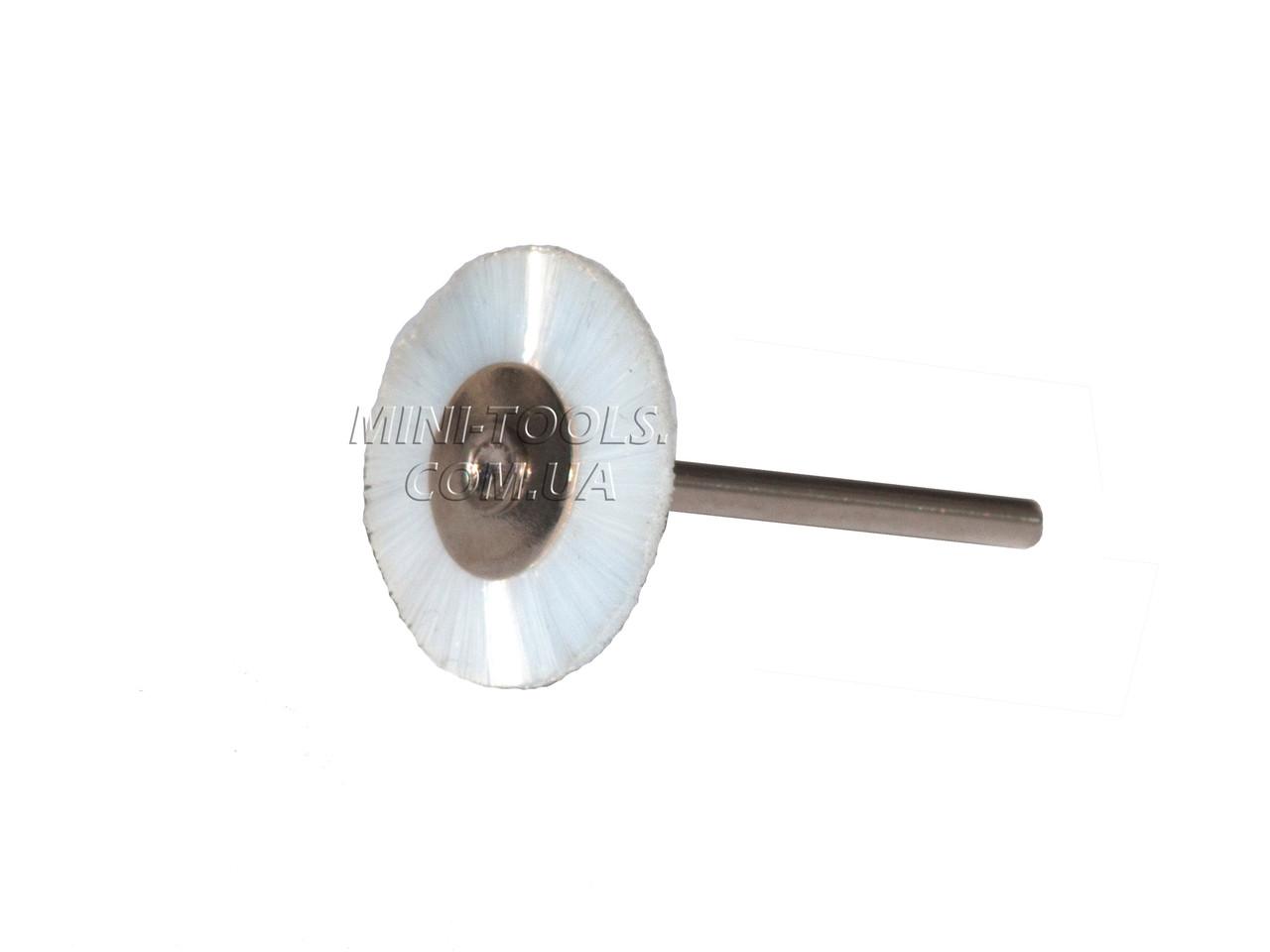 Щітка нейлон, Ø25 мм Хвостовик 3мм.