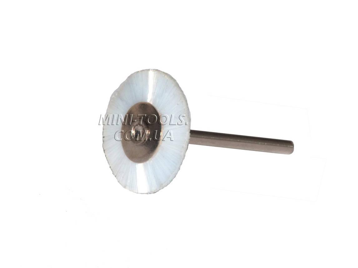 Щітка нейлон, Ø25 мм Хвостовик 3мм., фото 2