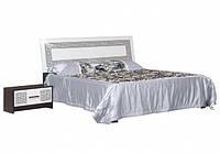 Ліжко двоспальне Світ Меблів Бася Нова Олімпія (піднімальний +каркас)180х200 чорний глянець/білий глянець, фото 1