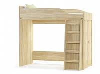 Кровать-горка в детскую Мебель Сервис Валенсия + каркас 90х200 дуб самоа