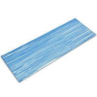 Коврик для фитнеса и йоги PVC 6мм (размер 1,73мx0,61мx6мм, голубой)
