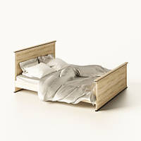 Ліжко двоспальне Світ Меблів Палермо (+каркас) 160х200 дуб сонома, фото 1