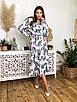 Платье миди из легкого софта в принт с расклешенной юбкой 41ty1013, фото 2