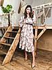 Платье миди из легкого софта в принт с расклешенной юбкой 41ty1013, фото 3