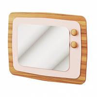 Дзеркало Світ Меблів Колібрі 74.5х59.4х3 горіх марино/рожевий, фото 1