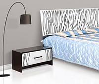 Тумба прикроватная Світ Меблів Бася Нова Нейла 60×34.5×36.5 черный глянец/белый глянец