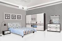 Тумба приліжкова Світ Меблів Бася Нова Нейла 60×х34.5×36.5 чорний глянець/білий глянець