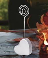 """Свадебный держатель для рассадочных карточек """"Сердце спиралька"""""""