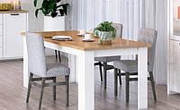Стол обеденный ВМВ Верне STIL 161(211)х75х90,8 белый/дуб каменный