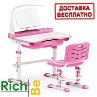Детский комплект парта и стул Evo-kids Evo-17 (с лампой)