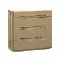 Комод Мебель-Сервис Флоренс 4Ш 100,1х96,3х42,6 секвоя\капучино глянец, фото 1