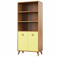 Книжный шкаф Світ Меблів Колибри 70×161.7×37.8 орех марино/жасминовый